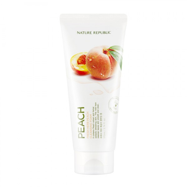 FRESH HERB PEACH CLEANSING FOAM [NATURE REPUBLIC]