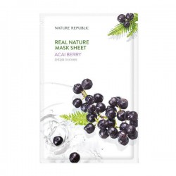 Real Nature Mask Sheet - ACAI BERRY [NATURE REPUBLIC]