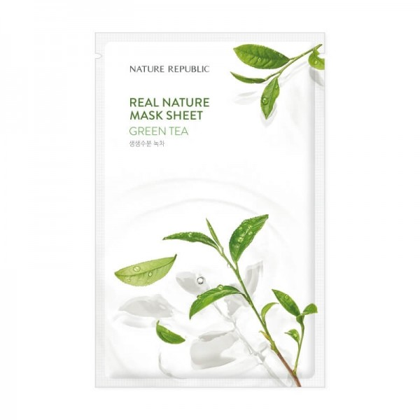 Real Nature Mask Sheet - Green Tea [NATURE REPUBLIC]