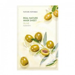 Real Nature Mask Sheet - OLIVE [NATURE REPUBLIC]