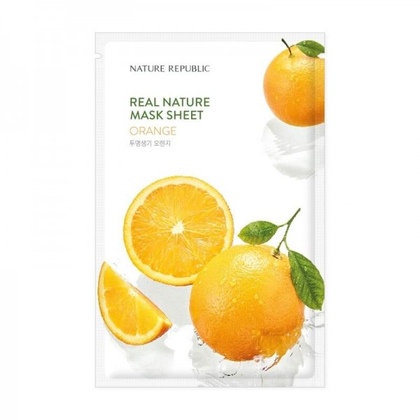 Real Nature Mask Sheet - ORANGE [NATURE REPUBLIC]