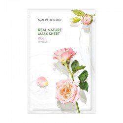 Real Nature Mask Sheet - ROSE [NATURE REPUBLIC]