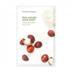 Real Nature Mask Sheet - SHEA BUTTER [NATURE REPUBLIC]