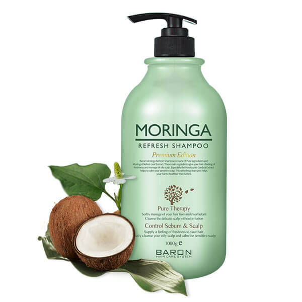 MORINGA Refresh Shampoo Premium Edition - 1000ml (33.9 fl oz)